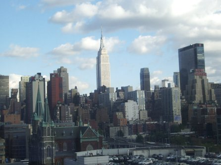 The view from the apartment in Manhattan